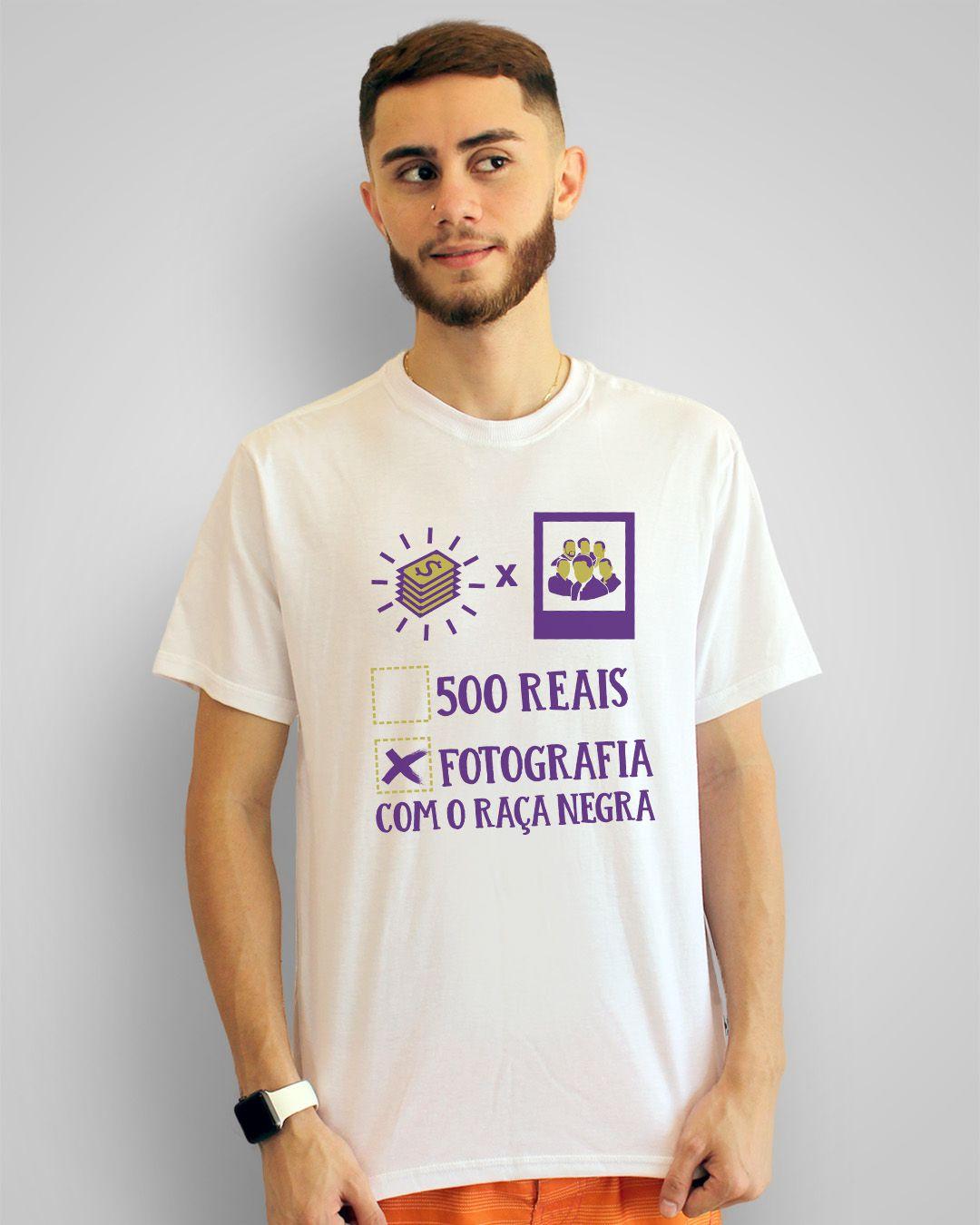 Camiseta 500 reais ou fotografia com o Raça Negra