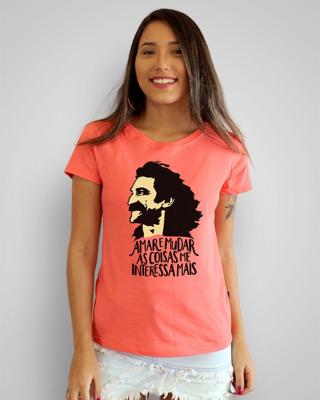 Camiseta Amar e mudar as coisas me interessa mais - Belchior