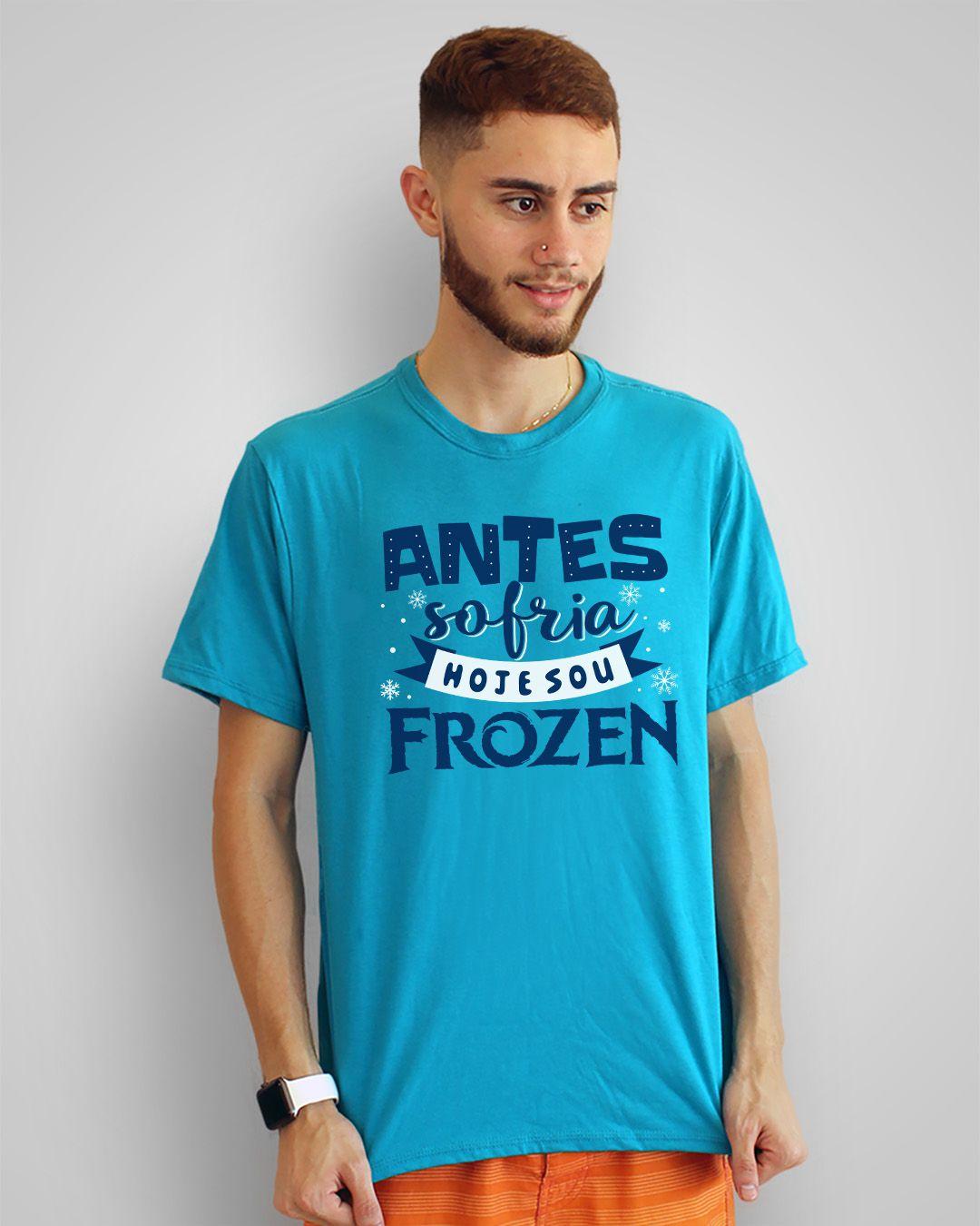 Camiseta Antes sofria, hoje sou Frozen