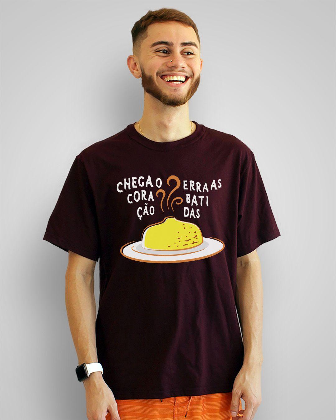 Camiseta Chega o coração erra as batidas - Cuscuz