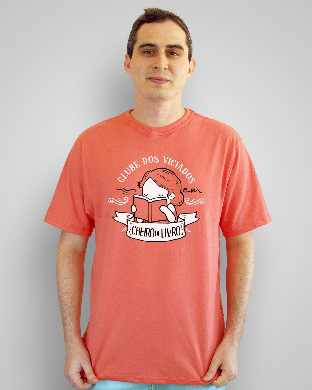Camiseta Clube dos viciados em cheiro de livro
