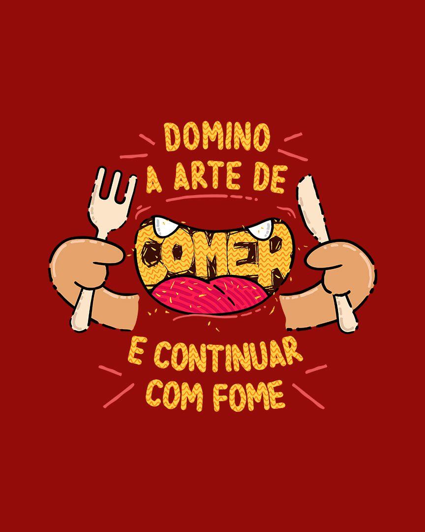 Camiseta Domino a arte de comer e continuar com fome