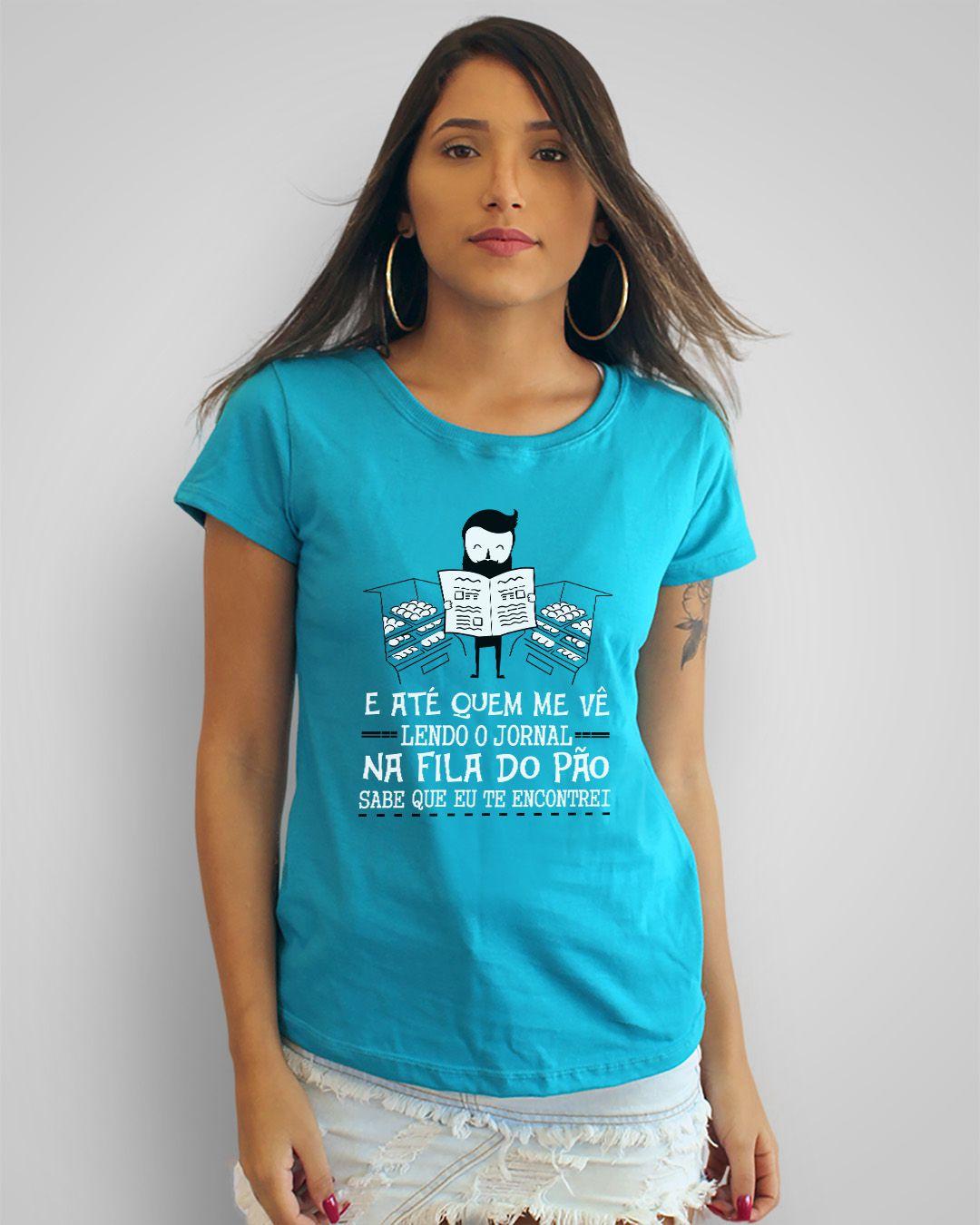 Camiseta E até quem me vê lendo o jornal... - Los Hermanos
