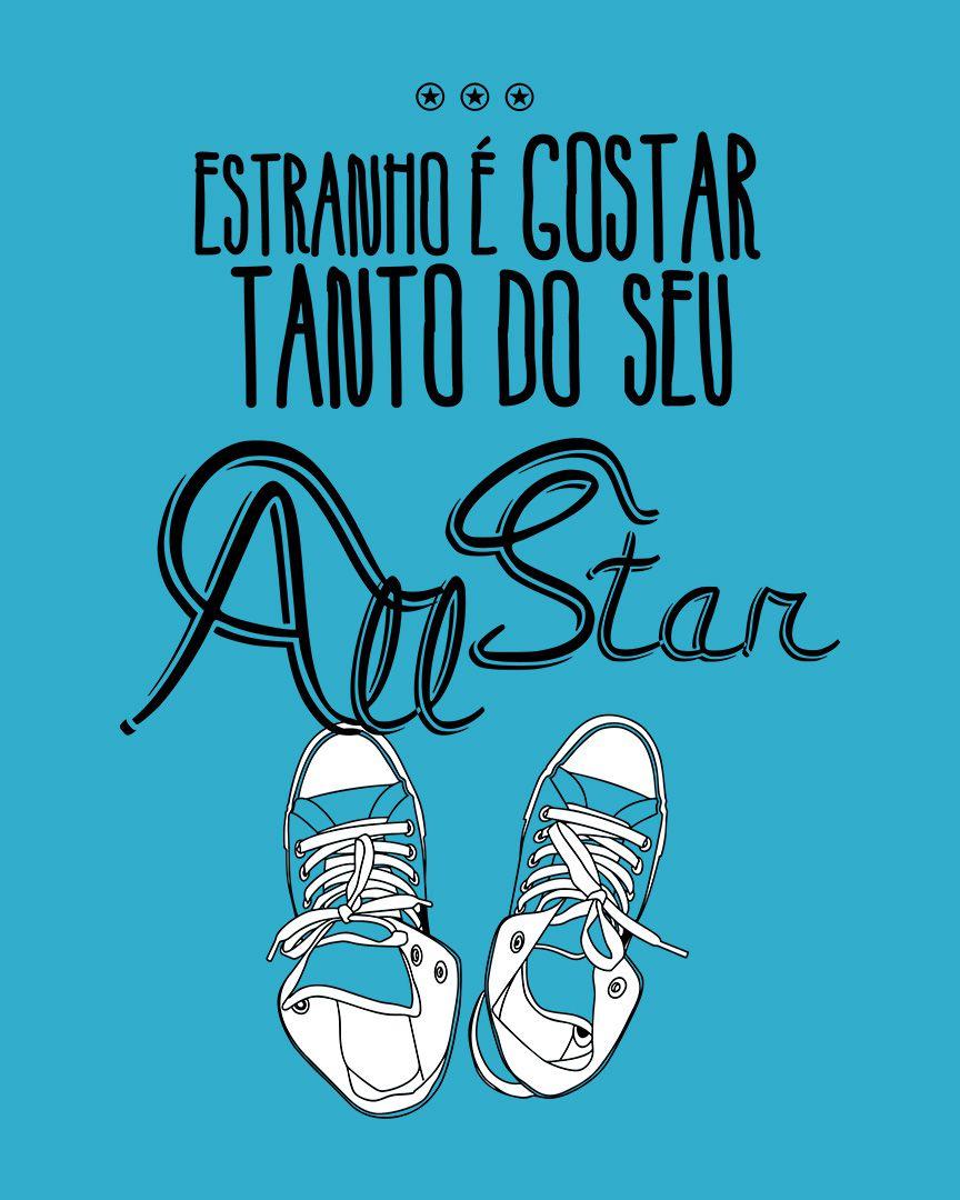 Camiseta Estranho é gostar tanto do seu All Star azul - Nando Reis ft. Cássia Eller