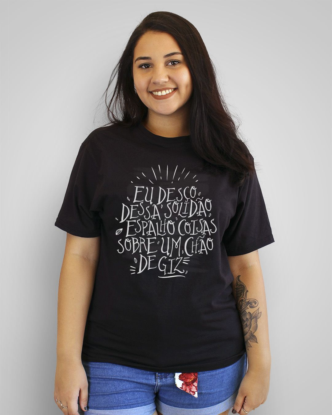 Camiseta Eu desço dessa solidão, espalho coisas sobre um chão de giz - Zé Ramalho