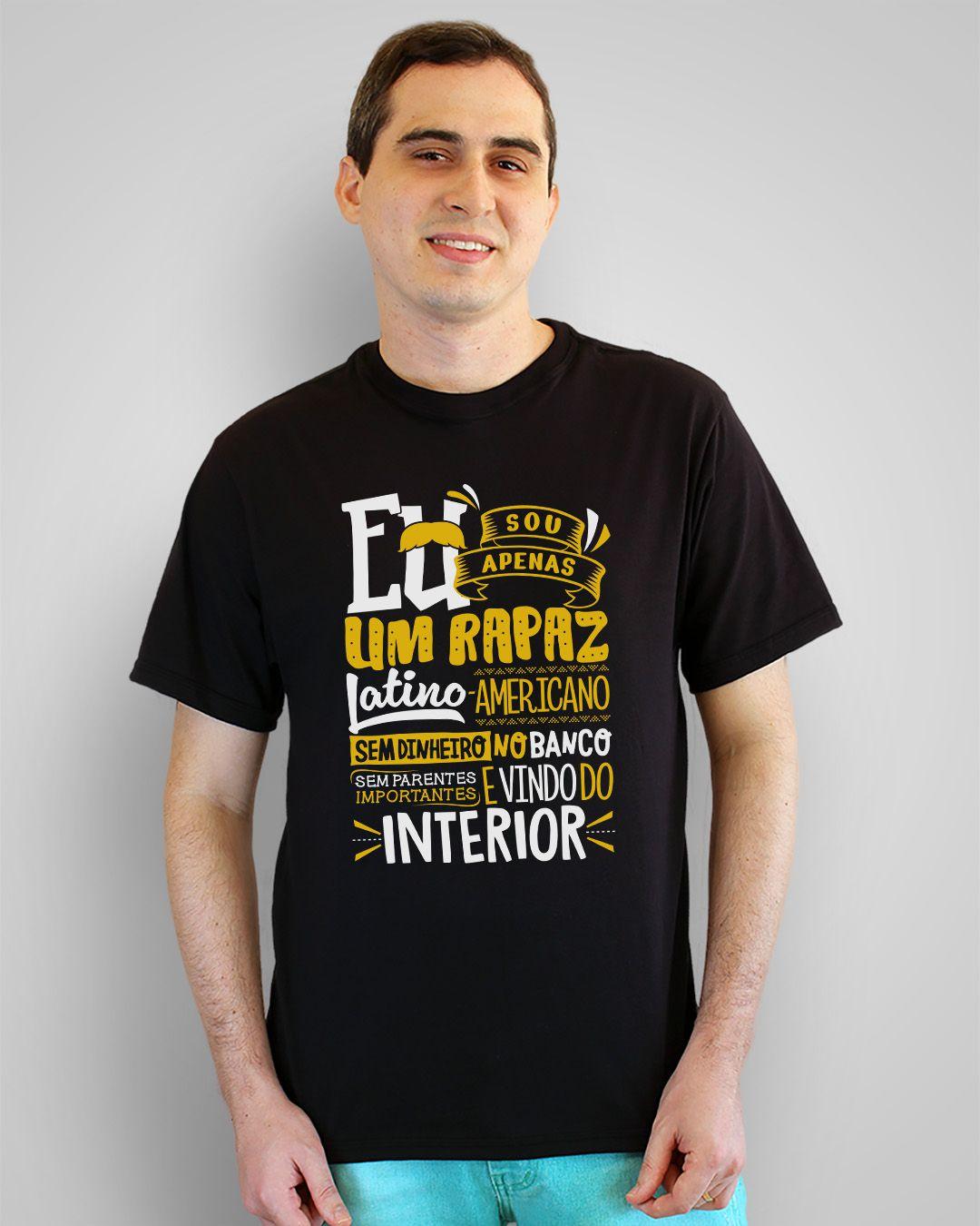 Camiseta Eu sou apenas um rapaz Latino-Americano... - Belchior