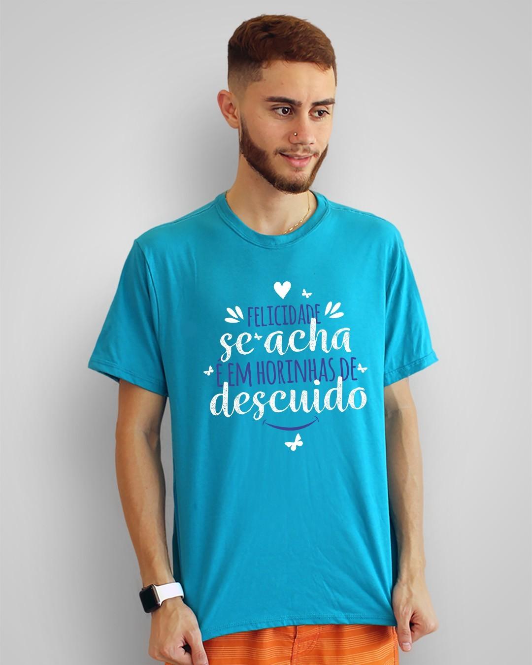 Camiseta Felicidade se acha é em horinhas de descuido - Guimarães Rosa