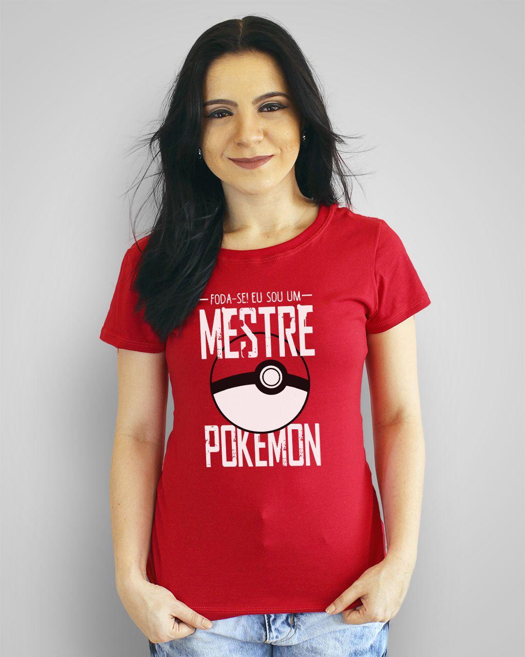 Camiseta Foda-se! Eu sou um Mestre Pokémon