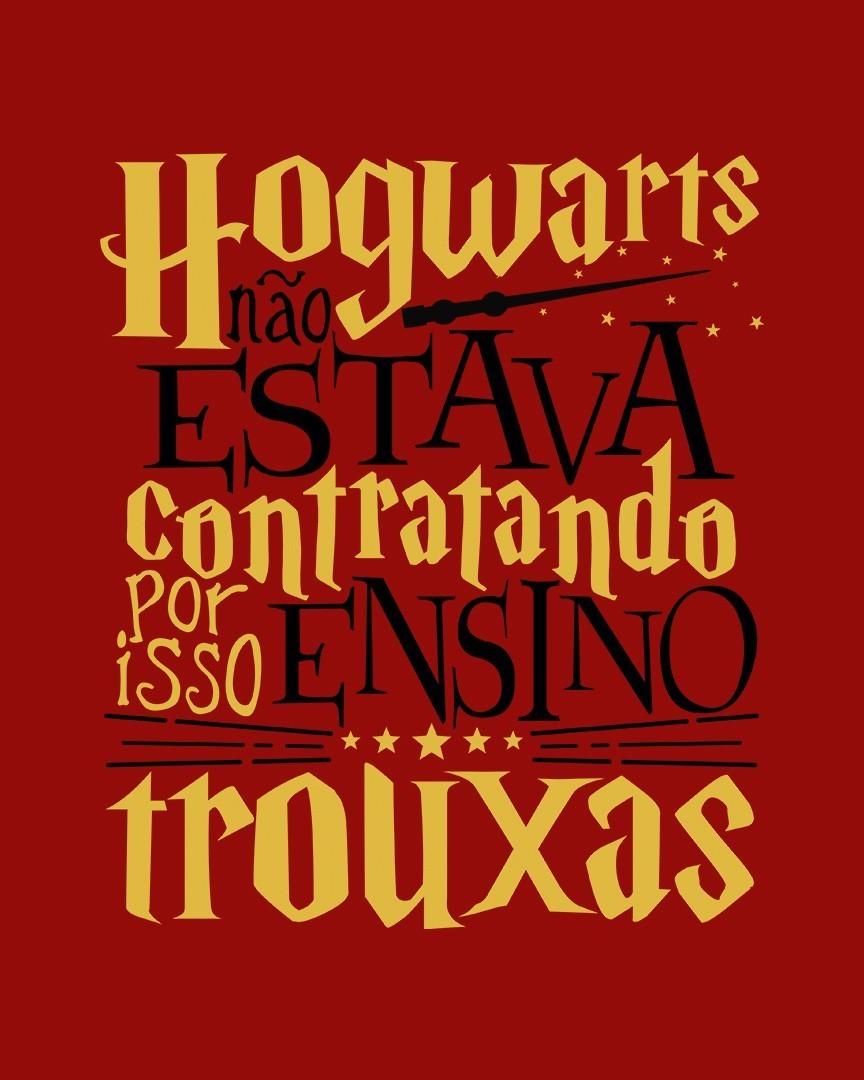 Camiseta Hogwarts não estava contratando, por isso ensino trouxas - Harry Potter