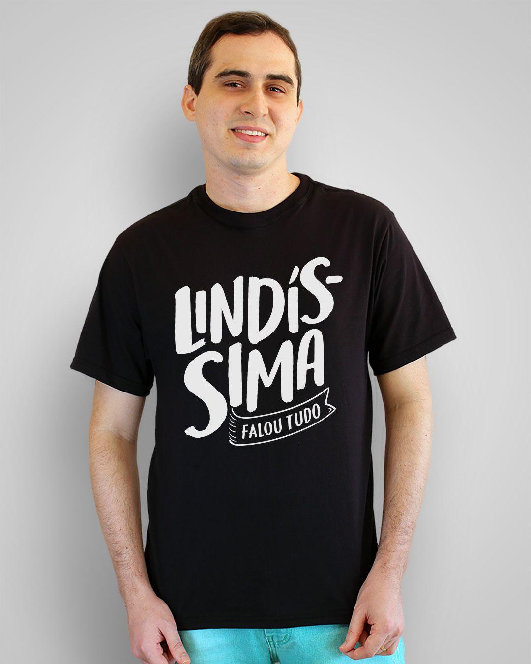 Camiseta Lindíssima, falou tudo