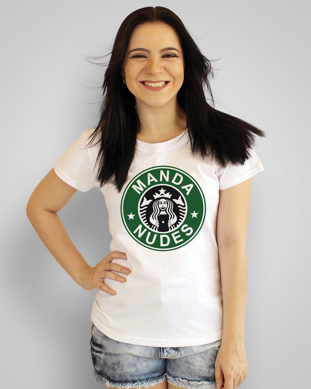 Camiseta Manda nudes - Starbucks