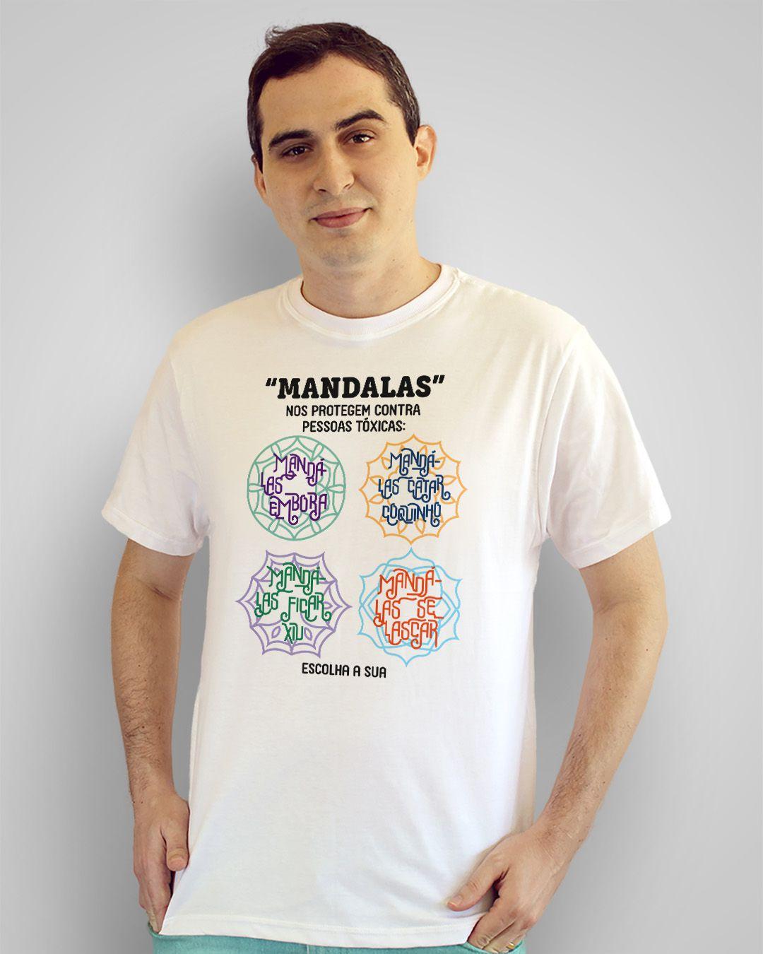 """Camiseta """"Mandalas"""" nos protegem contra pessoas tóxicas..."""