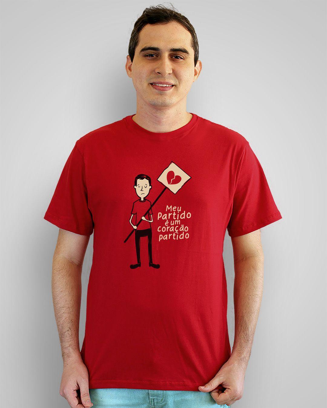 Camiseta Meu partido é um coração partido - Cazuza