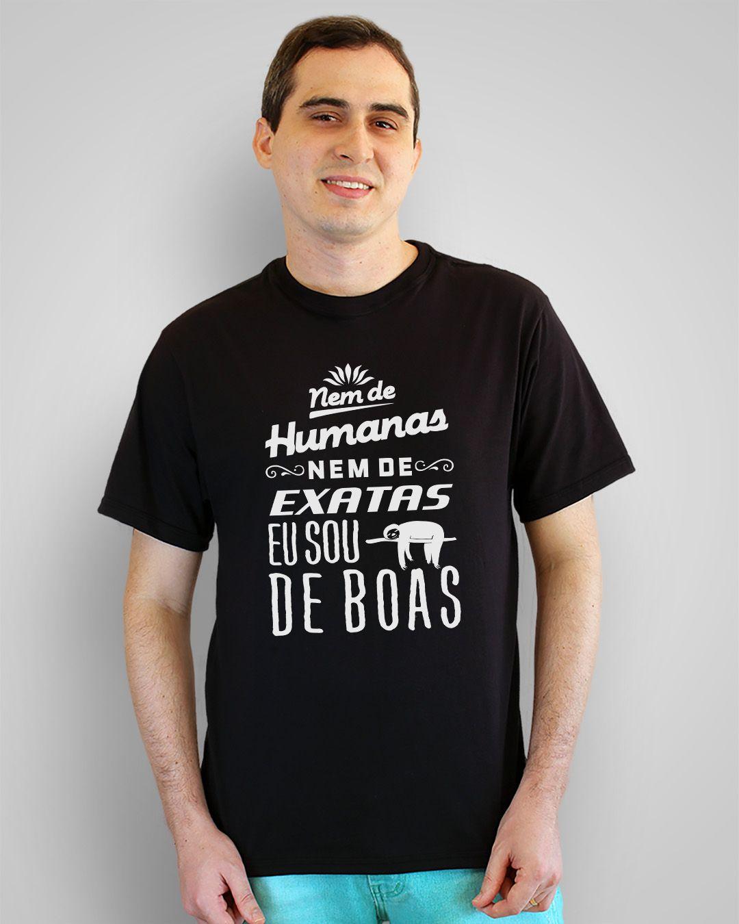 Camiseta Nem de humanas, nem de exatas, eu sou de boas