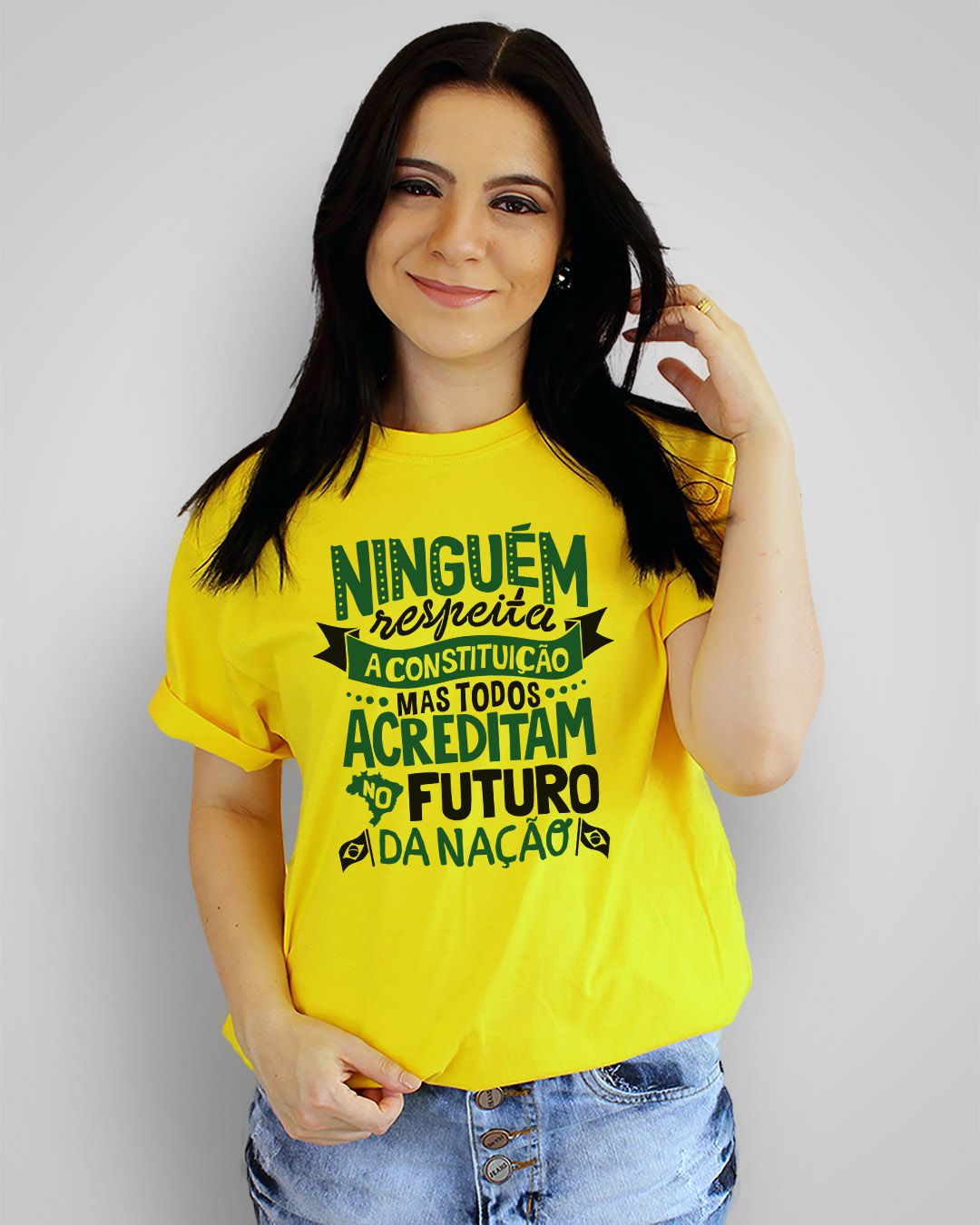 Camiseta Ninguém respeita a constituição... - Legião Urgana