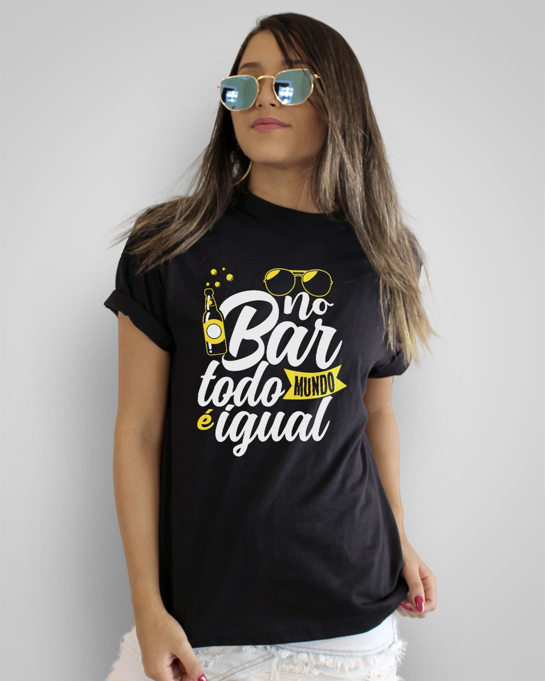 Camiseta No bar, todo mundo é igual - Reginaldo Rossi