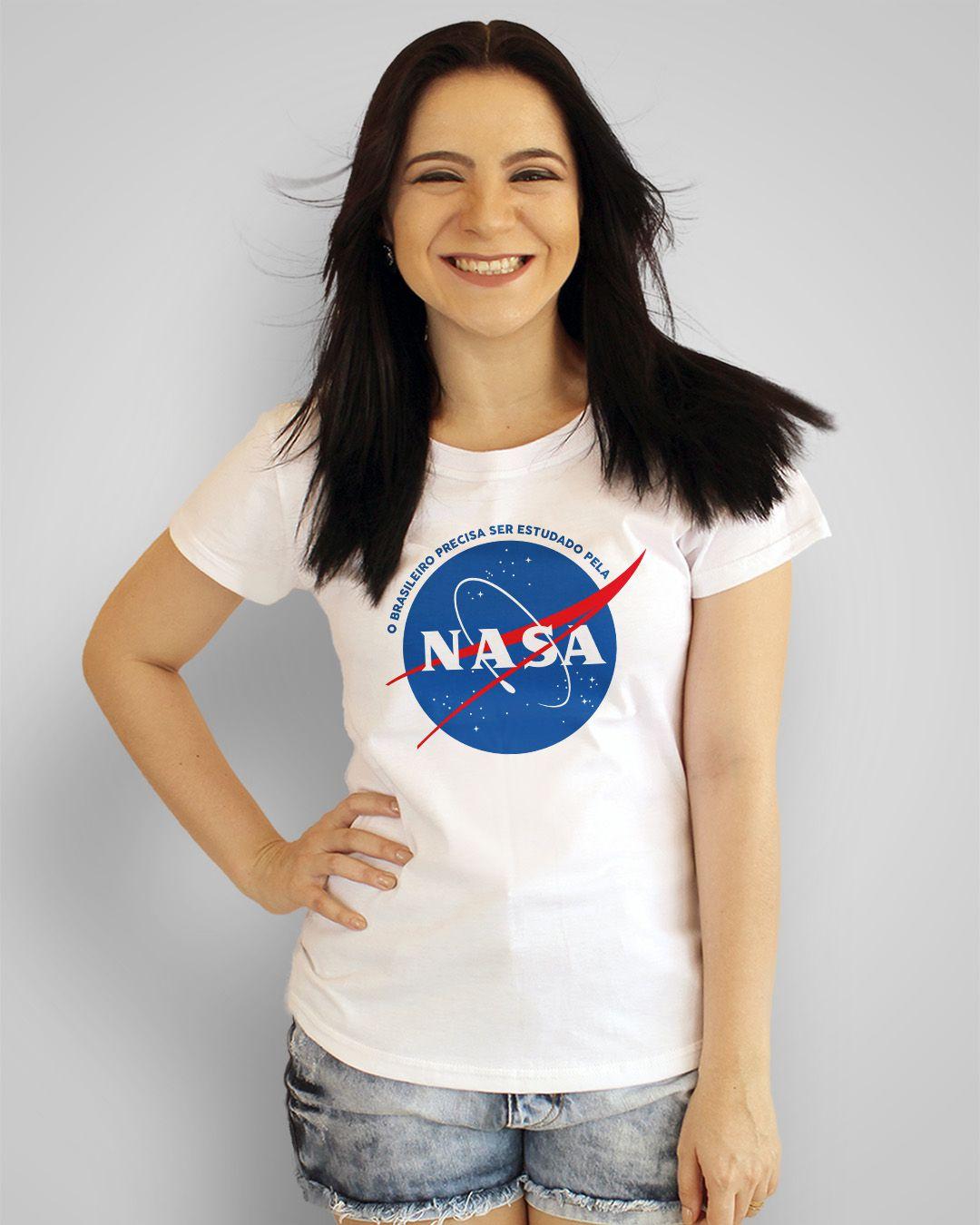 Camiseta O brasileiro precisa ser estudado pela Nasa