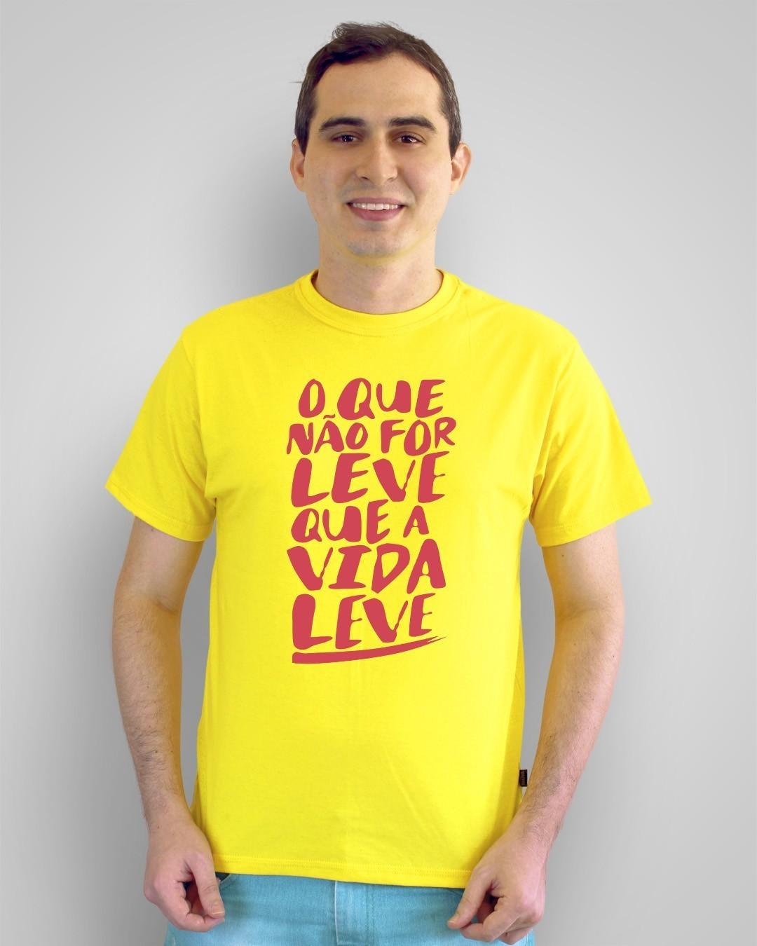 Camiseta O que não for leve, que a vida leve