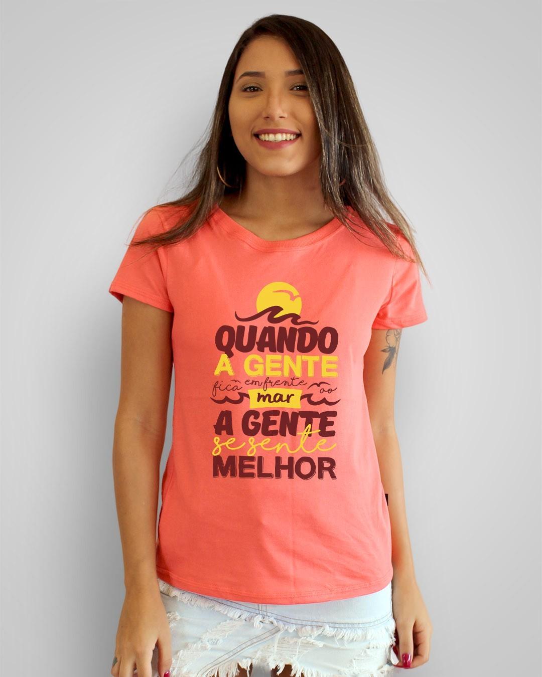 Camiseta Quando a gente fica em frente ao mar, a gente se sente melhor - Nando Reis