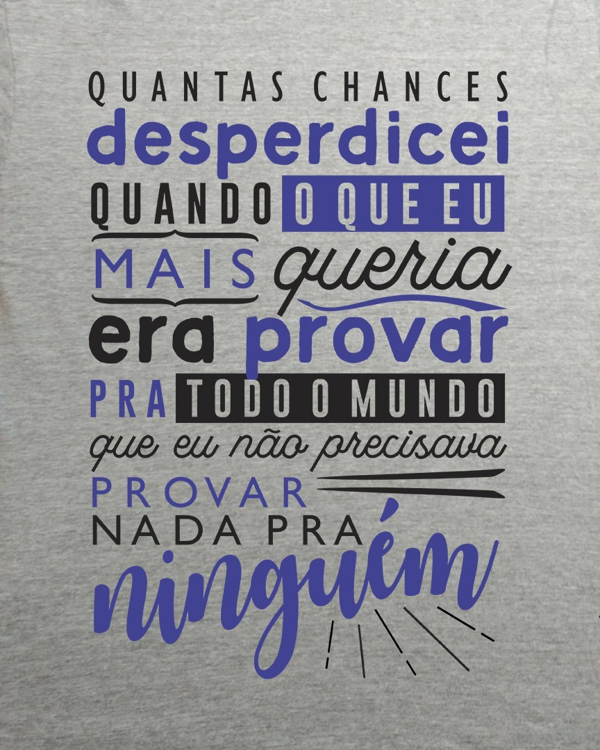 Camiseta Quantas chances desperdicei... - Legião Urbana