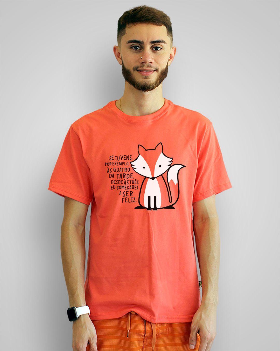 Camiseta Se tu vens, por exemplo, às quatro da tarde... - O Pequeno Príncipe