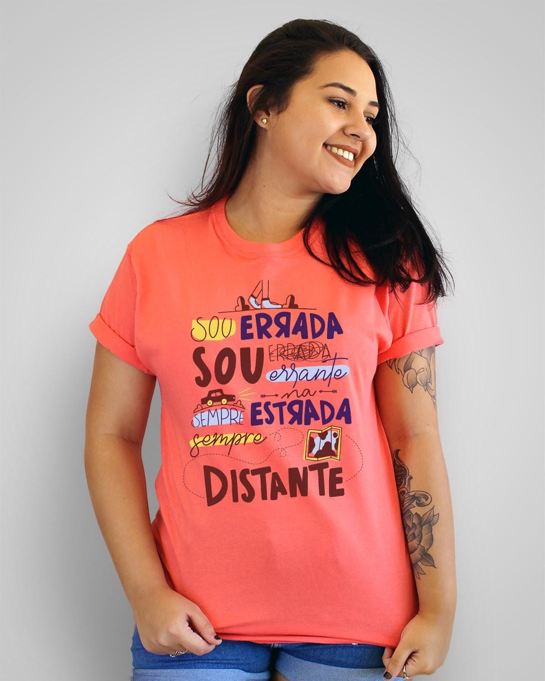 Camiseta Sou errada, sou errante, sempre na estrada, sempre distante - Kid Abelha