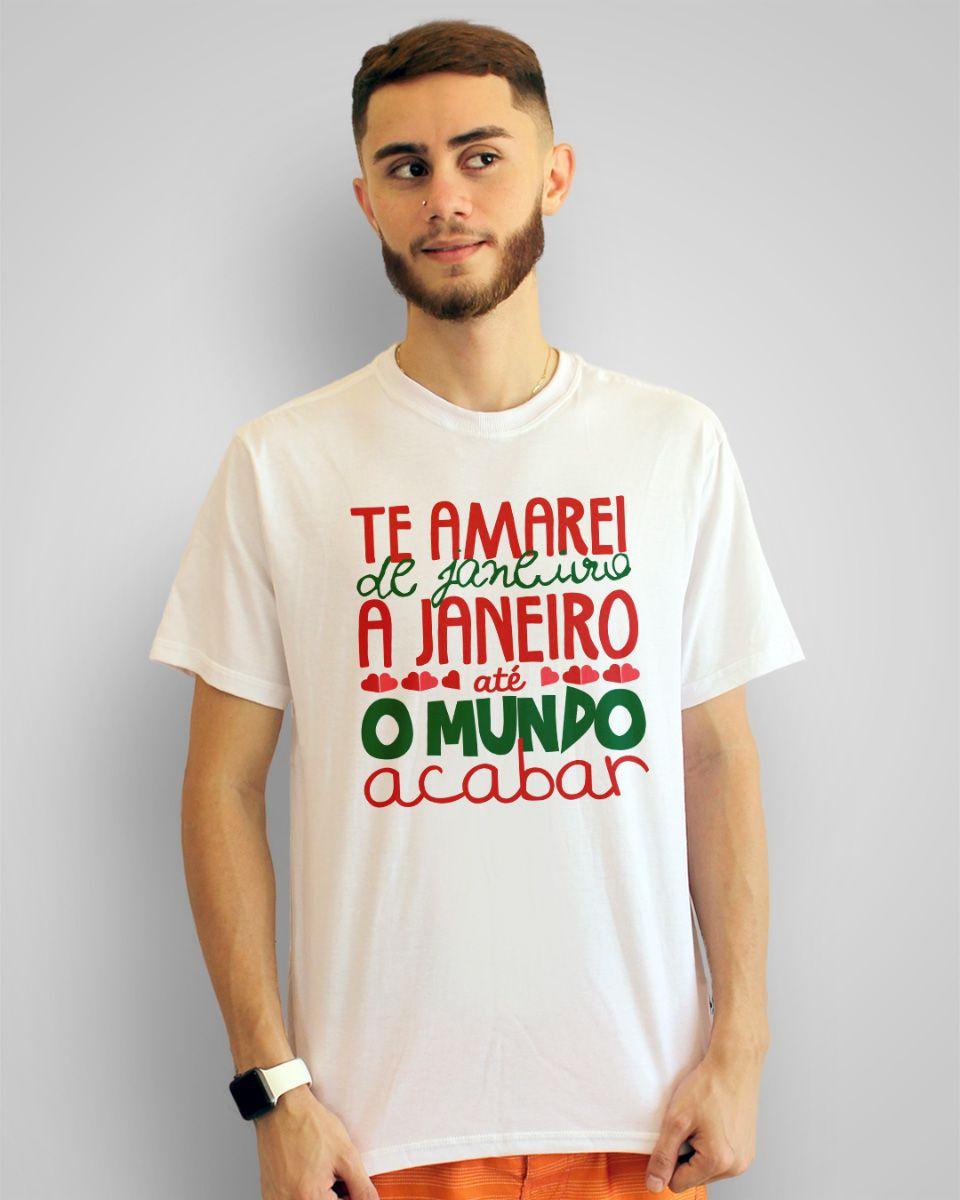 Camiseta Te amarei de janeiro a janeiro, até o mundo acabar - Roberta Campos ft. Nando Reis