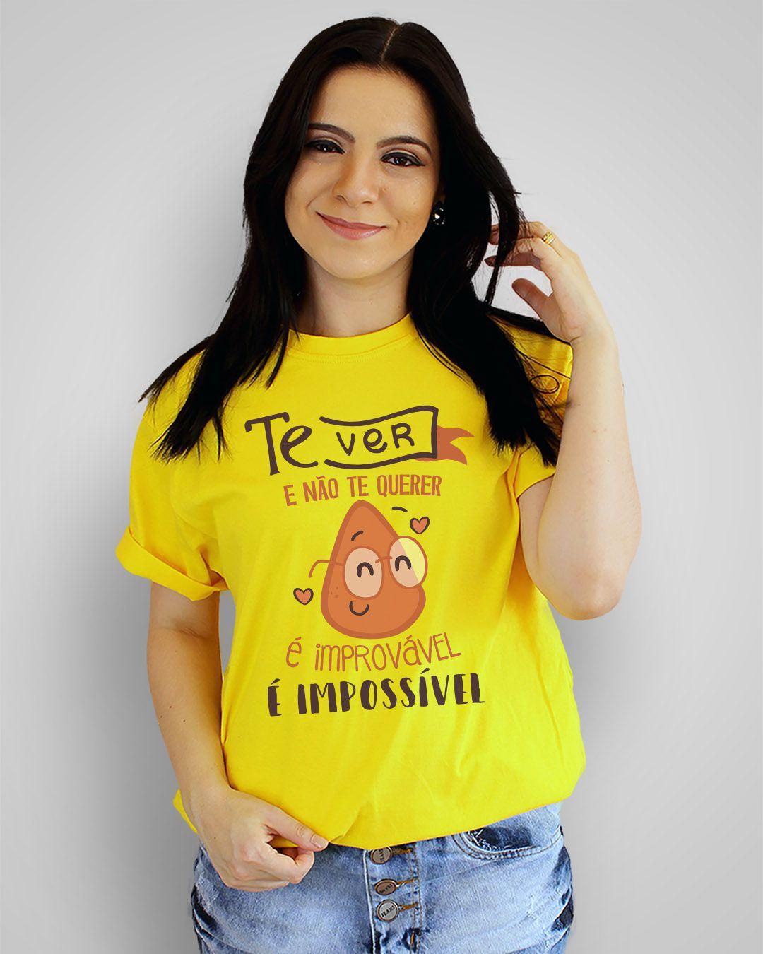 Camiseta Te ver e não te querer, é improvável, é impossível - Skank - Coxinha