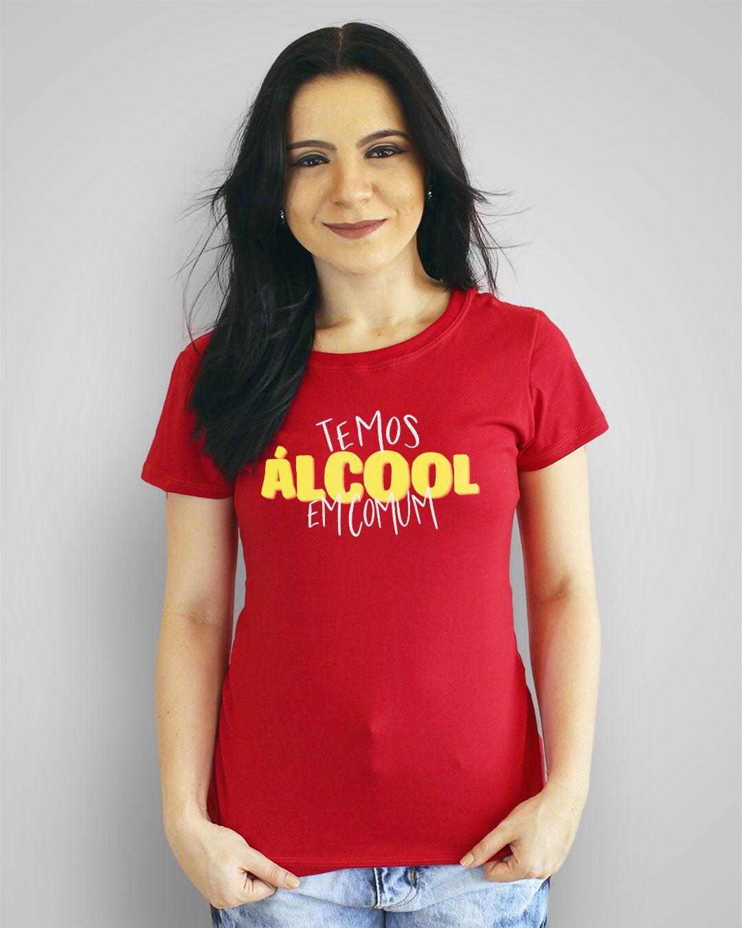 Camiseta Temos álcool em comum