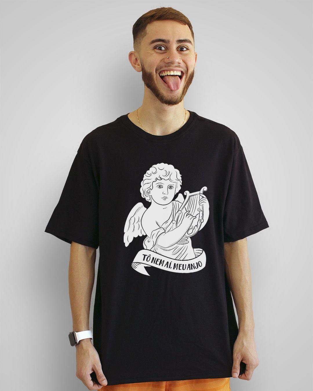 Camiseta Tô nem aí, meu anjo