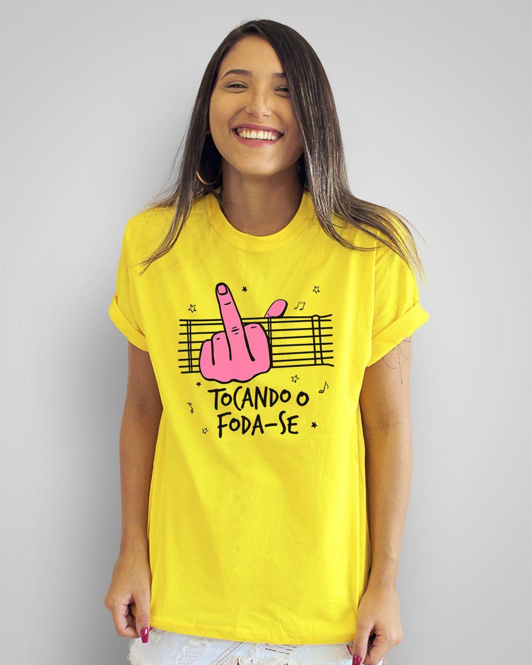 Camiseta Tocando o foda-se