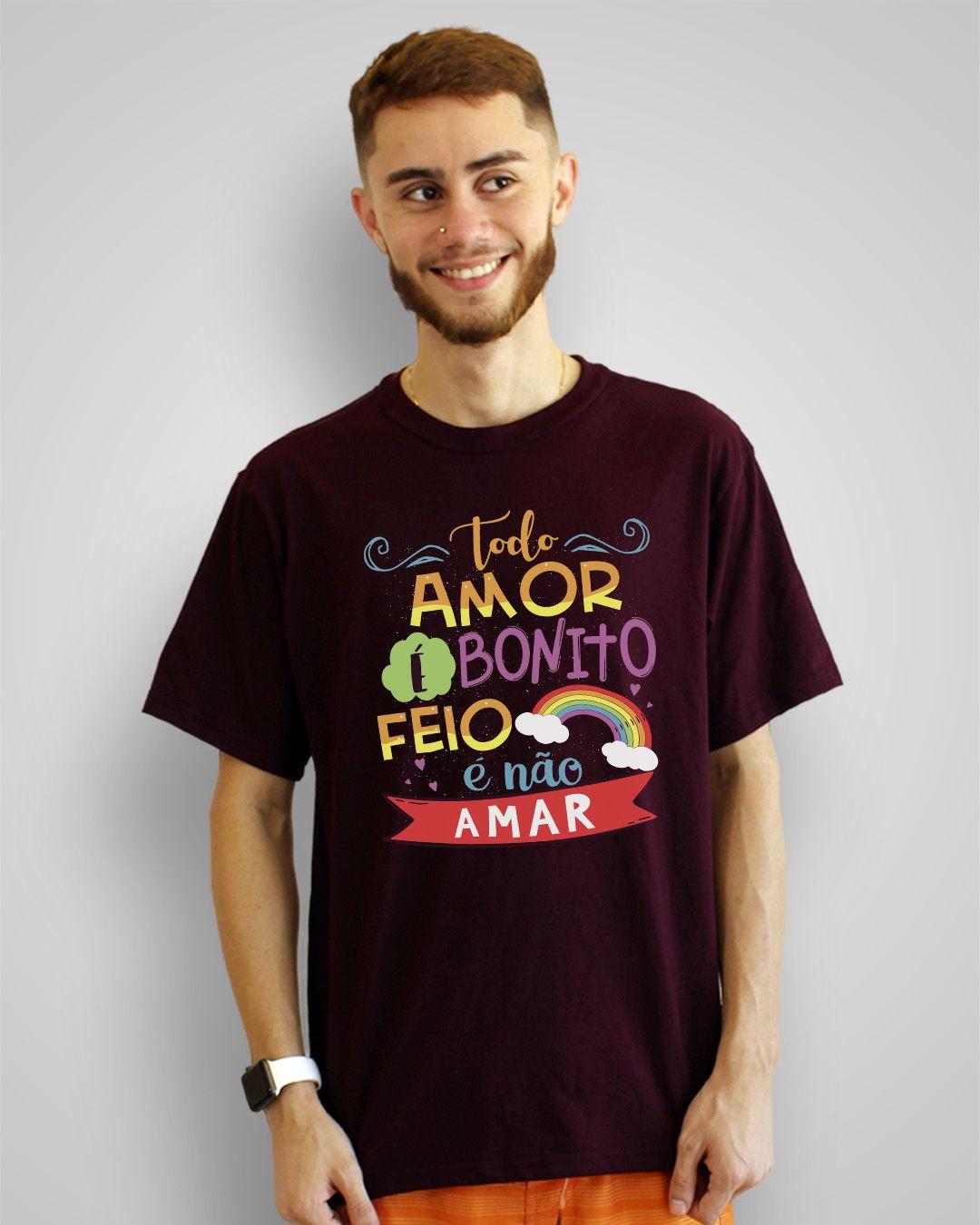 Camiseta Todo amor é bonito, feio é não amar