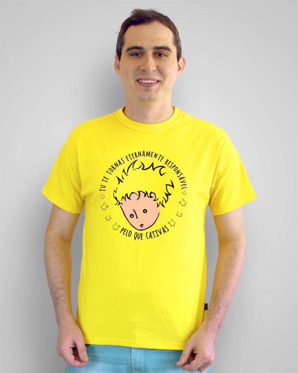 Camiseta Tu te tornas eternamente responsável pelo que cativas - O Pequeno Príncipe