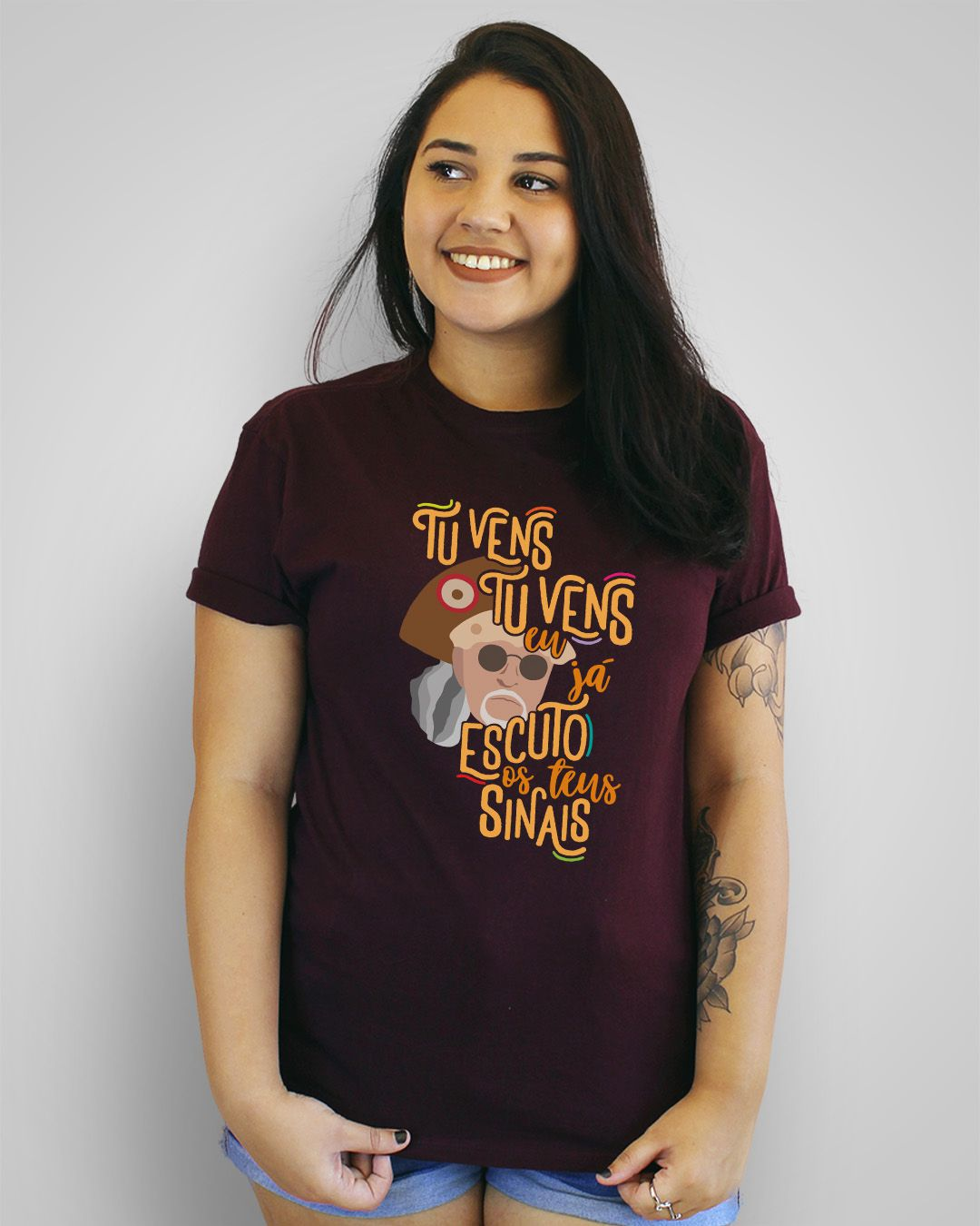 Camiseta Tu vens, tu vens, eu já escuto os teus sinais - Alceu Valença