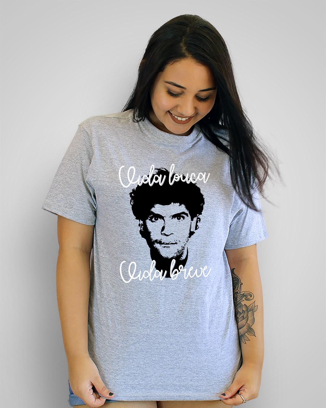 Camiseta Vida louca, vida breve - Cazuza