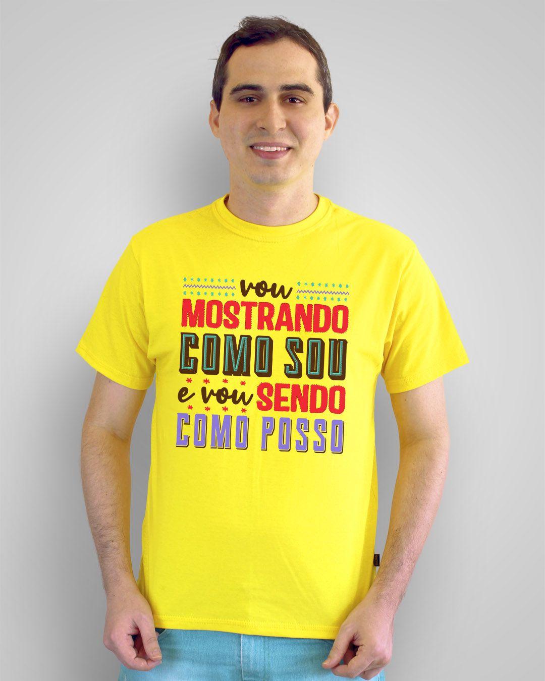 Camiseta Vou mostrando como sou e vou sendo como posso - Novos Baianos