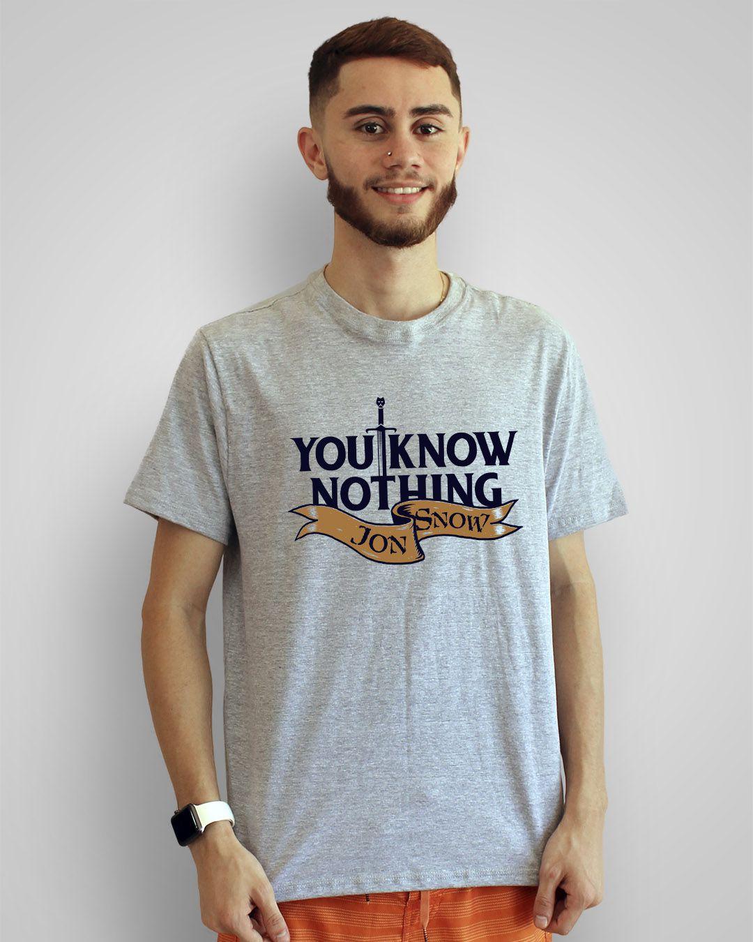 Camiseta You know nothing, Jon Snow - Game of Thrones