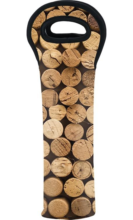 Bolsa Porta Vinho Neoprene Para 1 Garrafa Rolha