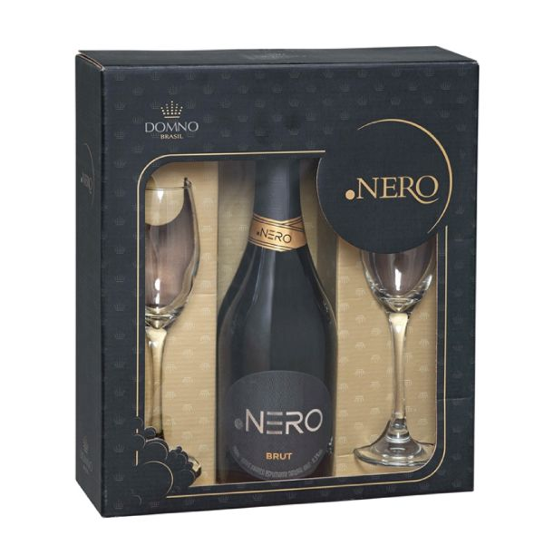 Kit .Nero Brut 750ml C/ 2 Tacas