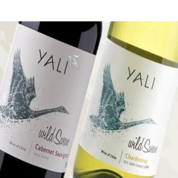 Kit Vinho Chileno Yali Wild Swan Caber/Chard 375ml