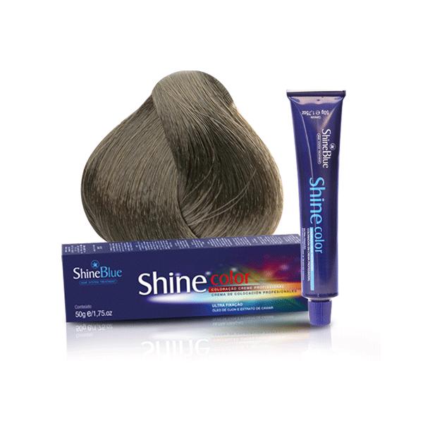 Coloração Shine Blue 9.1 Louro Muito Claro Acinzentado