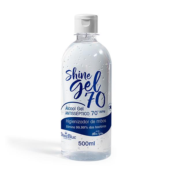 Shine Gel 70 - Álcool Gel Antiséptico - 500ml