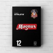 Placa Decorativa A3 - Uniforme Reservado Magnus Futsal #12