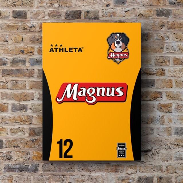 Placa Decorativa A3 - Uniforme Titular do Magnus Futsal #12