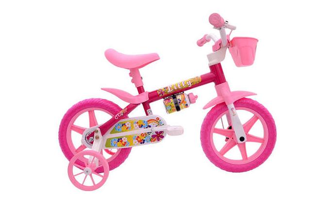 Bicicleta Infantil Aro 12 Feminina Flower Lilly