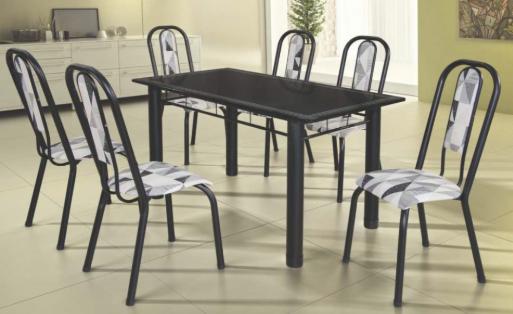 Conjunto Fortaleza 1,40 Com 6 Cadeiras