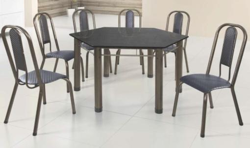 Conjunto Hexagonal Com 6 Cadeiras