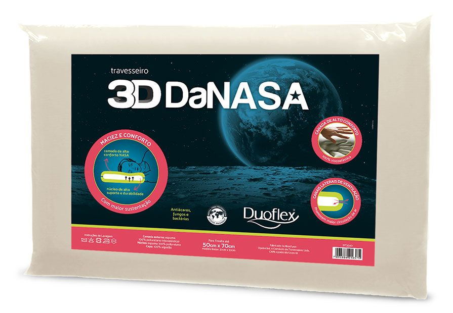 Travesseiro 3d Danasa Duoflex