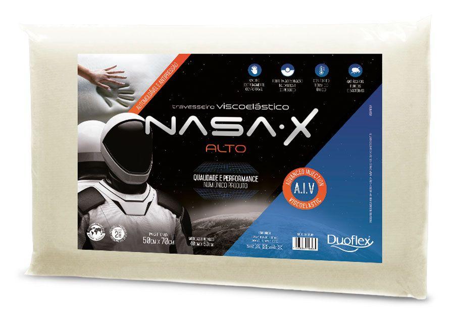 Travesseiro Nasa- X Alto Duoflex