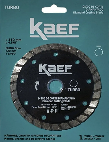 DISCO CORTAG DIAMANTADO TURBO 110MM KAEF